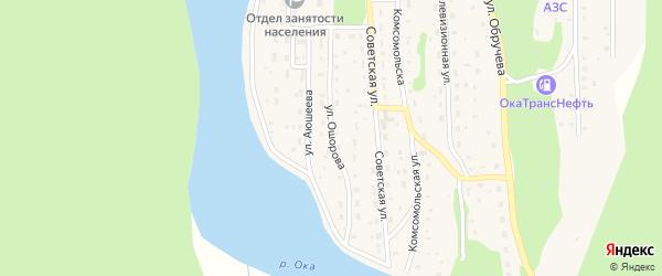 Улица Ошорова на карте села Орлика с номерами домов