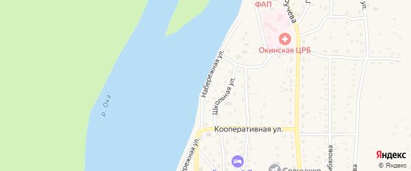 Набережная улица на карте села Орлика с номерами домов