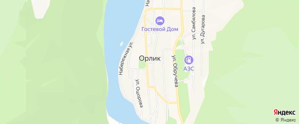 Карта местечка Орлика Амана в Бурятии с улицами и номерами домов