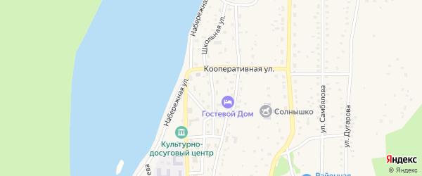 Школьная улица на карте села Орлика с номерами домов