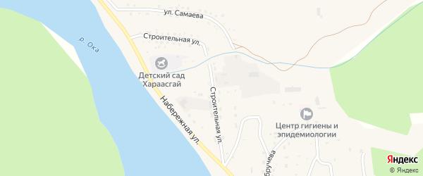 Строительная улица на карте села Орлика с номерами домов