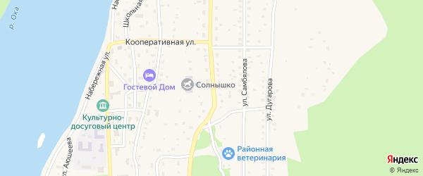 Улица Обручева на карте села Орлика с номерами домов
