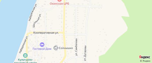 Улица Самбялова на карте села Орлика с номерами домов
