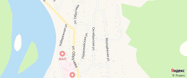 Октябрьская улица на карте села Орлика с номерами домов
