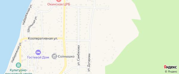 Улица Дугарова на карте села Орлика с номерами домов