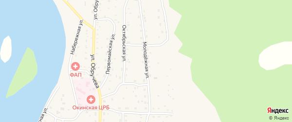 Молодежная улица на карте села Орлика с номерами домов