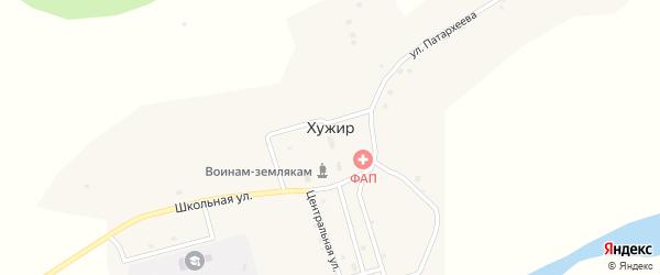Лесная улица на карте села Хужира с номерами домов