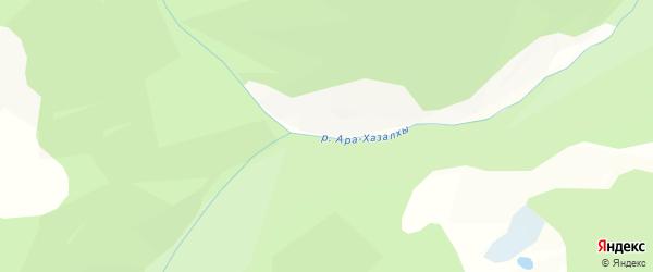 Карта местечка Ары Хазалхы в Бурятии с улицами и номерами домов
