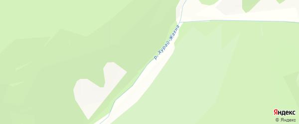 Карта местечка Хурай Жахна в Бурятии с улицами и номерами домов