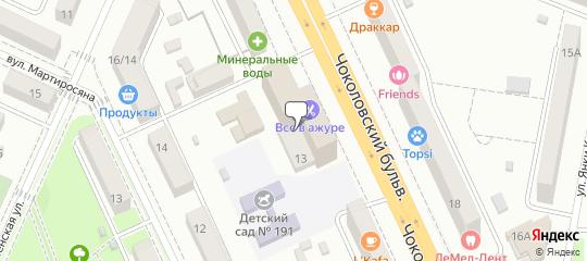 Чоколовский бульвар, 13 на карте Киева