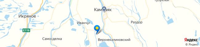 Карта Уваров,Астраханская область