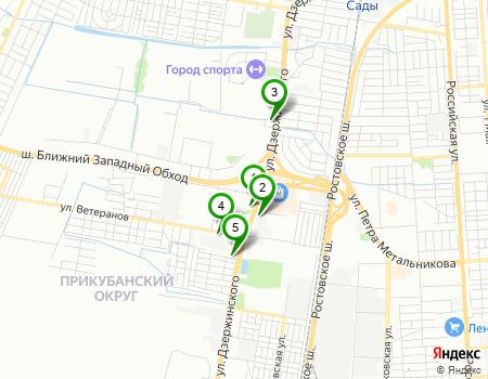 Ближайшие компании из категорий «Автосервисы-автотехцентры», «Автоателье», «Автотюнинг» в Краснодаре