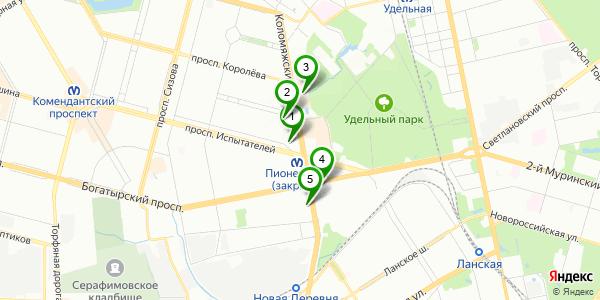 Интим карта проспект комендантский