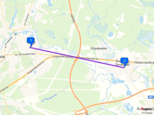 Ногинск – Большое Буньково