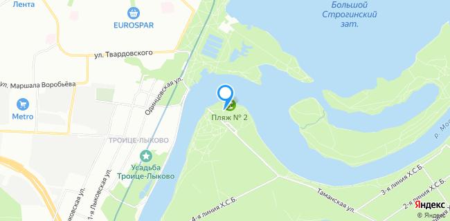 Пляж Серебрянный Бор - Москва, ул. Таманская, вл. 46
