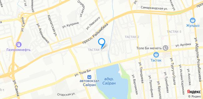 Станция Скорой Медицинской Помощи, подстанция №3 - Алматы, Тастак-1 мкр., 1а