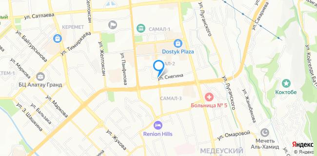 Банка - Алматы, микрорайон Самал-2, бул. Мендикулова, 45, оф. 2