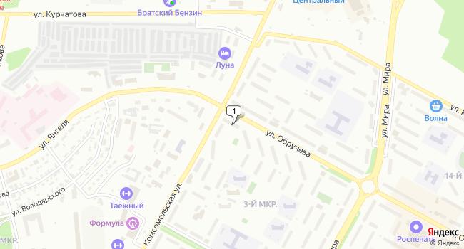 Купить офис 440 м<sup>2</sup> в Братске по адресу Россия, Иркутская область, Братск, улица Обручева, 2/46