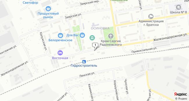 Купить склад 5451 м<sup>2</sup> в Братске по адресу Россия, Иркутская область, Братск, поселок Осиновка, Железнодорожная улица