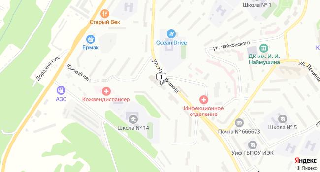 Купить офис 35 м<sup>2</sup> в Усть-Илимске по адресу Россия, Иркутская область, Усть-Илимск, улица Наймушина, 16