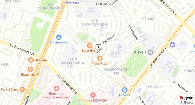 Купить торговую площадь 871 м<sup>2</sup> в Ангарске по адресу Россия, Иркутская область, Ангарск, микрорайон 12А, 8
