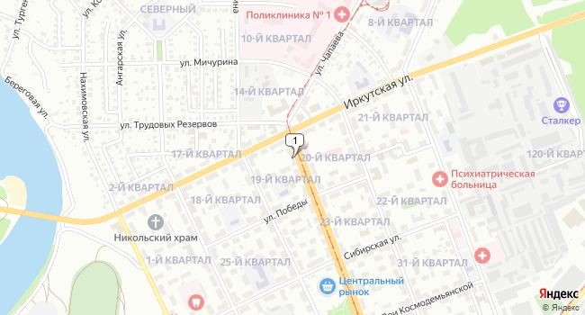 Арендовать коммерческую недвижимость 79 м<sup>2</sup> в Ангарске по адресу Россия, Иркутская область, Ангарск, 19-й квартал, 8