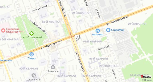 Купить коммерческую недвижимость 89 м<sup>2</sup> в Ангарске по адресу Россия, Иркутская область, Ангарск, 91-й квартал, 1