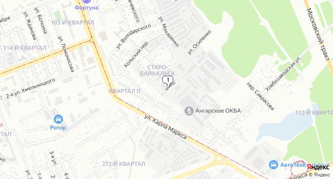 Купить коммерческую недвижимость 9978 м<sup>2</sup> в Ангарске по адресу Россия, Иркутская область, Ангарск, 2-я Московская улица, 9Б