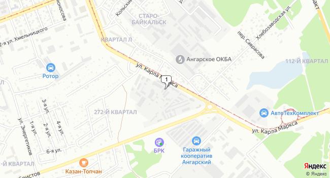 Купить коммерческую недвижимость 980 м<sup>2</sup> в Ангарске по адресу Россия, Иркутская область, Ангарск, улица Карла Маркса, 87А