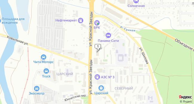 Арендовать торговую площадь 1800 м<sup>2</sup> в Чите по адресу Россия, Забайкальский край, Чита, улица Красной Звезды, 74А