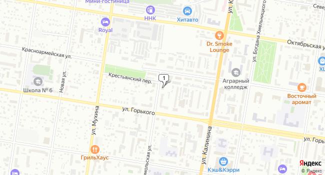 Купить земельный участок 656 м<sup>2</sup> в Благовещенске по адресу Россия, Амурская область, Благовещенск, Крестьянский переулок, 20