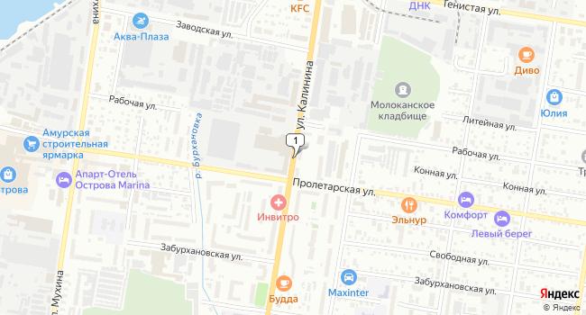 Купить офис 74 м<sup>2</sup> в Благовещенске по адресу Россия, Амурская область, Благовещенск, улица Калинина
