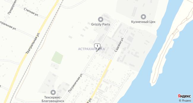 Арендовать склад 155 м<sup>2</sup> в Благовещенске по адресу Россия, Амурская область, Благовещенск, поселок Астрахановка, Пограничная улица