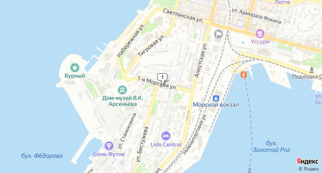 Арендовать офис 10 м<sup>2</sup> в Владивостоке по адресу Россия, Приморский край, Владивосток, 1-я Морская улица, 9