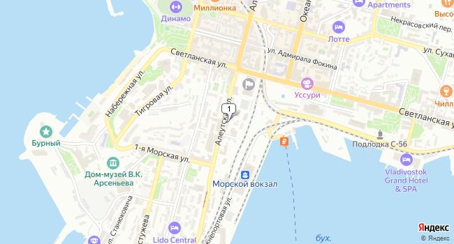Арендовать коммерческую недвижимость 106 м<sup>2</sup> в Владивостоке по адресу Россия, Приморский край, Владивосток, Алеутская улица, 12А