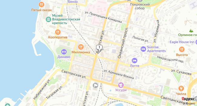 Арендовать офис 655 м<sup>2</sup> в Владивостоке по адресу Россия, Приморский край, Владивосток, Семеновская площадь