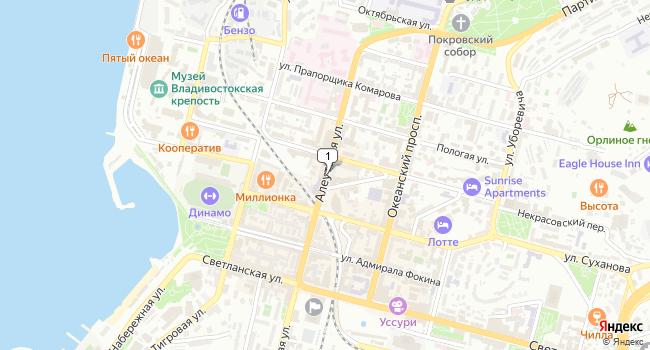 Арендовать офис 36 м<sup>2</sup> в Владивостоке по адресу Россия, Приморский край, Владивосток, Алеутская улица