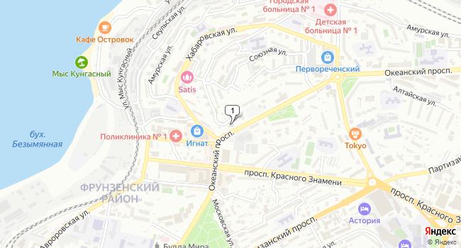 Купить отдельное здание 1800 м<sup>2</sup> в Владивостоке по адресу Россия, Приморский край, Владивосток, Океанский проспект, 81