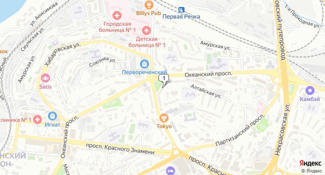 Арендовать офис 94 м<sup>2</sup> в Владивостоке по адресу Россия, Приморский край, Владивосток, Океанский проспект, 90