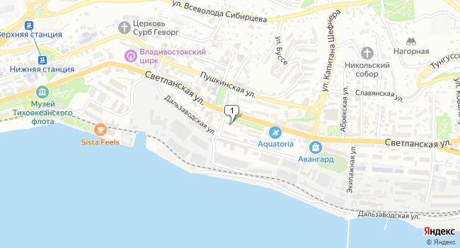 Арендовать офис 50 м<sup>2</sup> в Владивостоке по адресу Россия, Приморский край, Владивосток, Светланская улица, 86