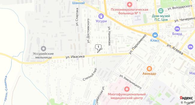 Арендовать склад 500 м<sup>2</sup> в Уссурийске по адресу Россия, Приморский край, Уссурийск, улица Ивасика, 5