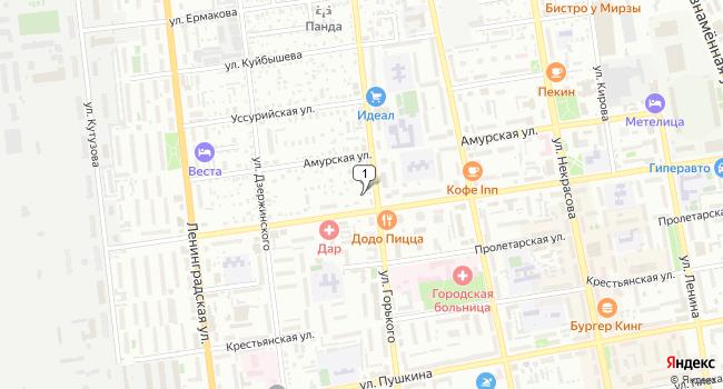 Купить офис 34 м<sup>2</sup> в Уссурийске по адресу Россия, Приморский край, Уссурийск, улица Горького, 83