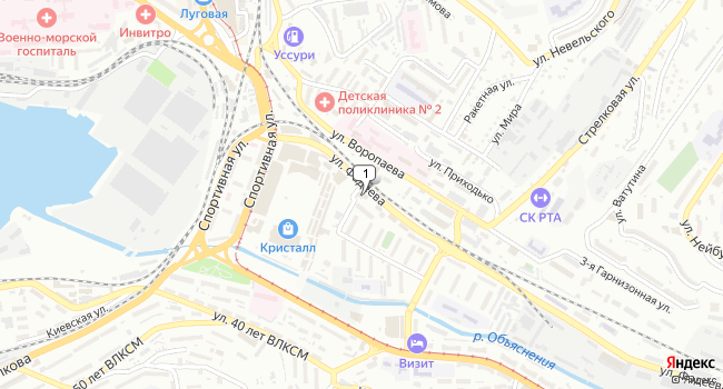 Арендовать офис 290 м<sup>2</sup> в Владивостоке по адресу Россия, Приморский край, Владивосток, улица Фадеева, 4