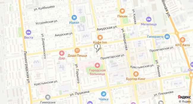 Арендовать офис 15 м<sup>2</sup> в Уссурийске по адресу Россия, Приморский край, Уссурийск, Советская улица, 77