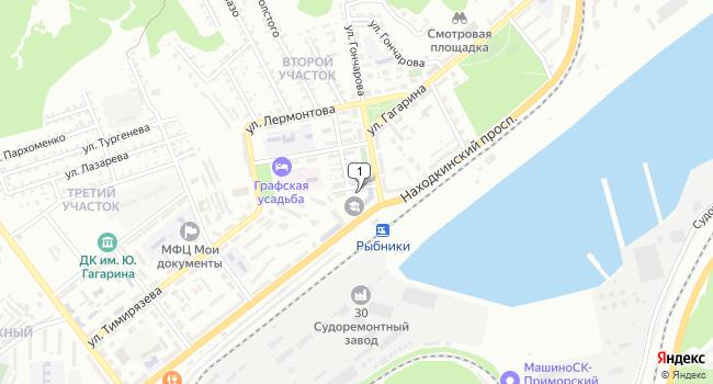 Купить торговую площадь 71 м<sup>2</sup> в Находке по адресу Россия, Приморский край, Находка, Парковая улица, 1