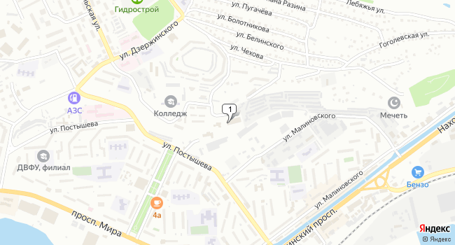 Купить земельный участок 7200 м<sup>2</sup> в Находке по адресу Россия, Приморский край, Находка, улица Куйбышева, 2
