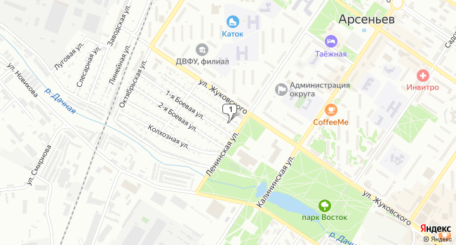 Купить коммерческую недвижимость 154 м<sup>2</sup> в г. Арсеньев по адресу Россия, Приморский край, Арсеньев, проезд Жуковского, 38