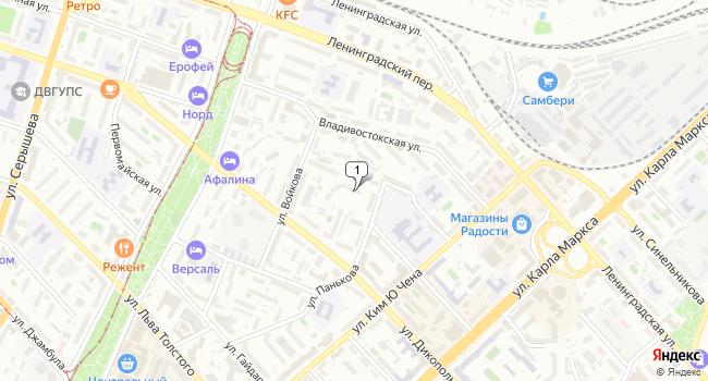 Купить коммерческую недвижимость 18 м<sup>2</sup> в Хабаровске по адресу Россия, Хабаровск, улица Панькова, 29Б