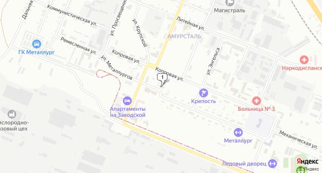 Купить производственное помещение 572 м<sup>2</sup> в Комсомольске-на-Амуре по адресу Россия, Хабаровский край, Комсомольск-на-Амуре, поселок Амурсталь, улица Металлургов, 26