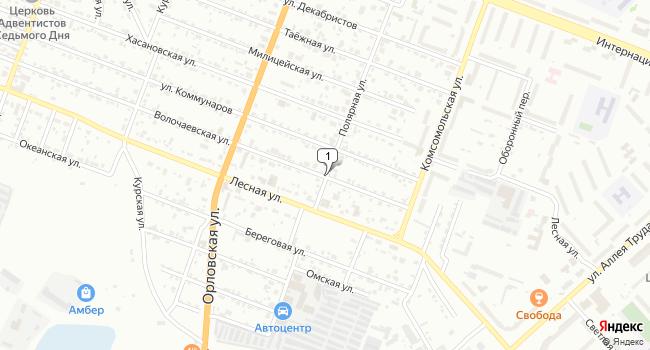 Арендовать офис 1 м<sup>2</sup> в Комсомольске-на-Амуре по адресу Россия, Хабаровский край, Комсомольск-на-Амуре, Полярная улица